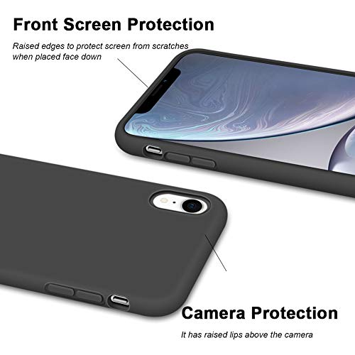 Anuck Case for iPhone XR Case 6.1 inch 2018, Soft Silicone Gel Rubber Bumper Phone Case with Anti-Scratch Microfiber…
