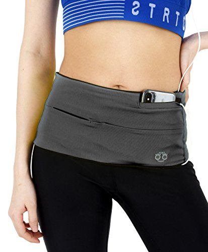 HoHo Running Belt, Waist Pack, Travel Money Belt, Fits All Size Smart Phone, Passport and More