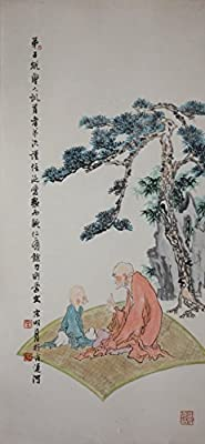 [Chinese Ink and Wash Painting]-The aged and the child - disciple rules- 100% creative by Master Song -37.40 x 17.72 inches