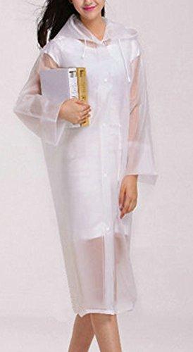 Resistente Chubasquero Poncho Lluvia Chubasquero Blanco Agua Al Capucha Mujer Impermeable LaoZan Con qS1BEE