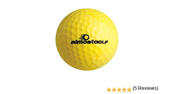 Amazon.com : Almost Golf Limited Flight Golf Balls (3 Ball Pack) -Yellow : Sports & Outdoors