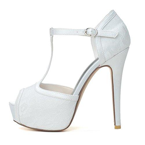 Mariage Sandales Femmes De Toes Pour YC Taille Chaussures 28 L 3128 blue Soie Peep En Grande q8XtAF