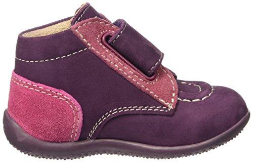 Kickers Bono - Zapatos de primeros pasos Bebé-Niños Violet (Violet Fc/Rose Fc/Fuchsia)