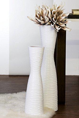 Vasen 2er SET Keramik Vase weiß