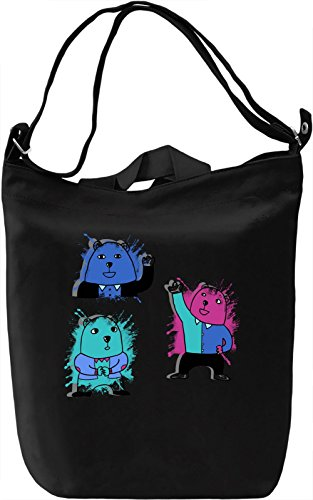 Cute Bears Borsa Giornaliera Canvas Canvas Day Bag| 100% Premium Cotton Canvas| DTG Printing|