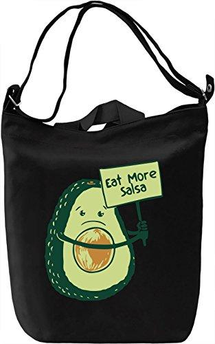 Eat More Salsa! Borsa Giornaliera Canvas Canvas Day Bag| 100% Premium Cotton Canvas| DTG Printing|