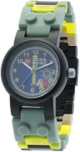 LEGO Star Wars Yoda Kids Buildable Watch with Link Bracelet and Minifigure | green/gray | plastic | 28mm case diameter| analog quartz | boy girl | official