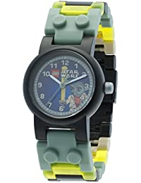 Star Wars Yoda Kids Buildable Watch with Link Bracelet and Minifigure | green/gray | plastic | 28mm case diameter| analog quartz | boy girl | official