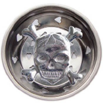 skull and crossbones kitchen sink strainer drain cover