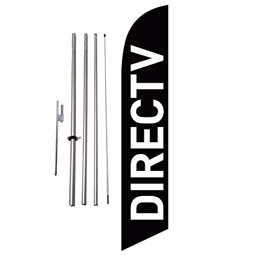 directv-direct-tv-advertising-black-feather-banner-swooper-flag-kit-includes-pole-kit-and-ground-spi