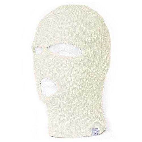 TopHeadwear 3-Hole Ski Face Mask Balaclava, Ivory