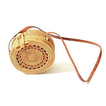 42a71331d Women's Rattan Handbags Cross- body Bags Shoulder Messenger Bag Beach  Handwoven Natural bag INS (