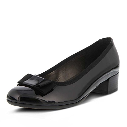 Spring Step Womens On Patent Black Genya Slip rr7R0Hwq