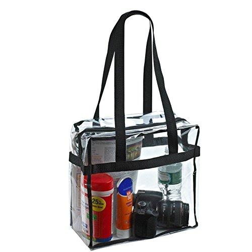 Pvc透明バッグ女性クリアバッグショルダースクエアバッグ防水クロスボディ