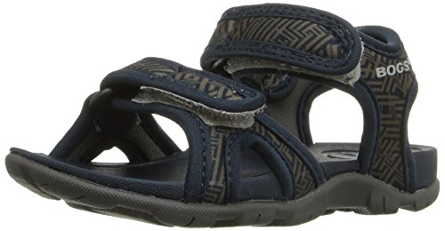 Bogs Baby Whitefish Shatter Hook and Loop Closure Sandal (Toddler), Navy Multi, 6 M US Toddler