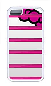 iPhone 5C Case, iPhone 5C Cases - Pink Bookshelf Polycarbonate Hard Case Back Cover for iPhone 5C¨C White