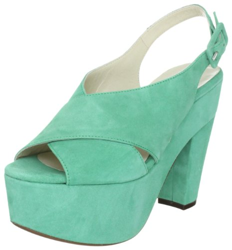 L'Autre Chose Sandalo Donna LD3220.13GPT05406025 - Sandalias de vestir de ante para mujer, color verde, talla 39