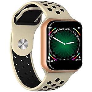 F8 Smart Watch Women Men Bracelet SmartWatch Blood Pressure Fitness Bracelet Tracker for iOS Pk iwo 8 B57 S226 Smart Watch Band (Gold)