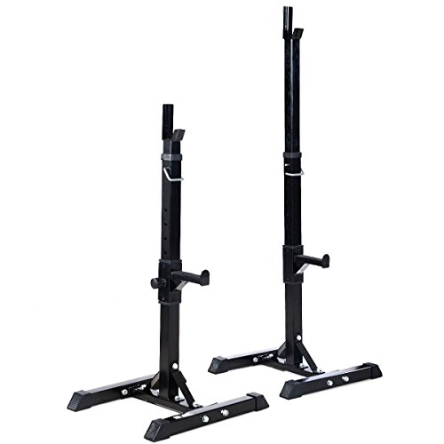 MD Group Barbell Rack Solid Steel Adjustable Standard Pair Heavy Duty Press Bench Exercise Equipment by MD Group