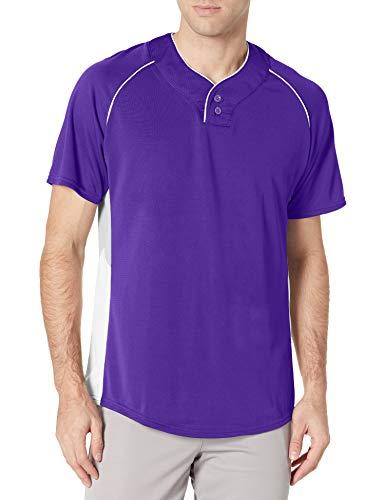 Wilson Sporting Goods Jersey de malla de doble barra con 2 botones, juvenil grande, morado