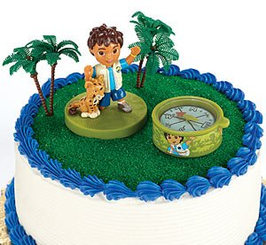 Amazoncom Party Supplies Go Diego Go Cake Toppers Toys  Games - Go diego go birthday cake
