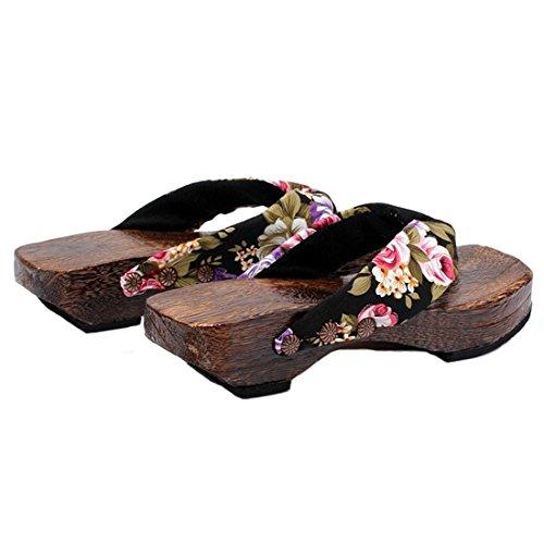 ac0a69d40c0 Ainiel Woman s Japanese Traditional Clogs Geta Sandals - Buy Online ...