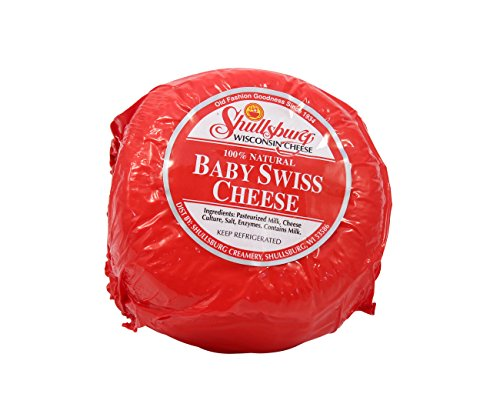 Shullsburg Creamery - Baby Swiss Cheese - 2 Pound Wheel (Best Cheese For Baby)