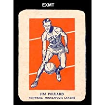 1952 wheaties regular (basketball) Card# 6 jim pollard act of the Minneapolis Lakers ExMt Condition