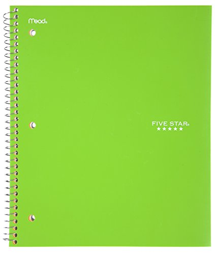 043100060444 - Five Star Spiral Notebook, College Ruled, 1 Subject, 100 Sheets, 1 Notebook, Assorted Colors (06044) carousel main 3
