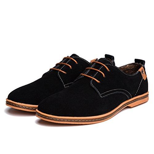 Cordones Extra Zapatos Hombre Talla Negro Zapatillas Ocio de 1 los Oxfords YiJee qHXEFE