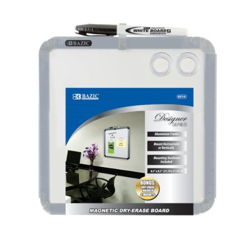 """Bazic 8.5"""""""" x 8.5"""""""" Magnetic Dry Erase Board Case Pack 12"""