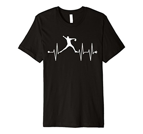 Star Pitcher Baseball Heartbeat Shirt Baseball Fan Tee Gift