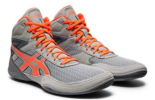 ASICS Men's Matflex 6 Wrestling Shoes, Stone Grey/Flash Coral, 7.5 M US (The Best Wrestling Shoes)