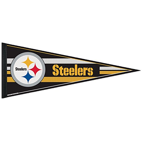 WinCraft NFL Pittsburgh Steelers WCR63781513 Carded Classic Pennant, 12