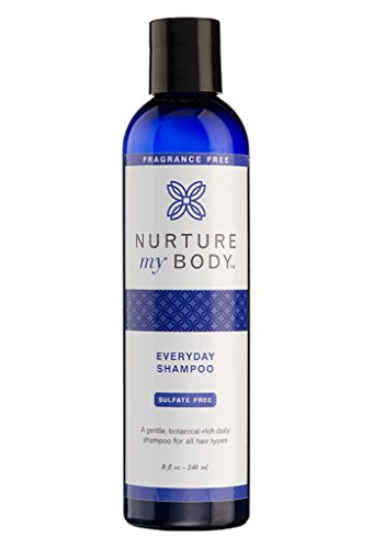 (Everyday Shampoo by Nurture My Body | Fragrance Free, All-Natural, Handcrafted with Certified Organic Ingredients | 8oz)
