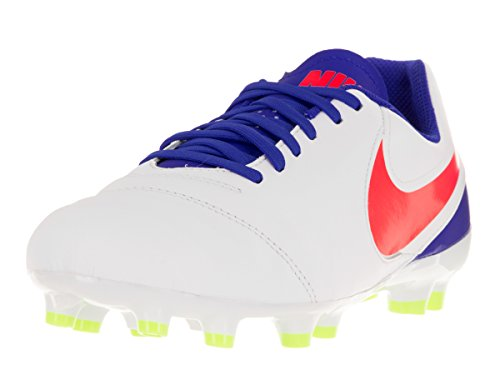 Nike JR TIEMPO Legend VI FG Fútbol cornamusa White/Bright Crimson Rcr Bl Vlt