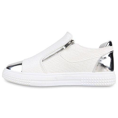 Stiefelparadies - Zapatillas Mujer Weiß