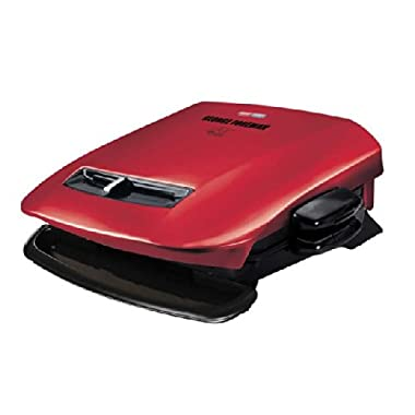 George Foreman GRP2841R 5-Serving Removable Plate Grill with Variable Temperature, Red