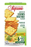 Club Supreme Premium Snacks - Oven Baked Crisp Vegetable Crackers 150g (6 Individually Wrapped 25g Bags) - Original Flavour - Source of Calcium - Halal