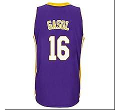 PAU Gasol # 16 del Desgaste de Baloncesto de los Hombres -Los Ángeles Lakers - Mangas de los Hombres sin Mangas (Color : Amarillo, Size : XXL): Amazon.es: Deportes y aire libre
