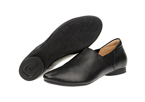 Think! Think Guad - Damen Slipper - schwarz - 3-83794-00 - Caña baja de cuero mujer negro - negro