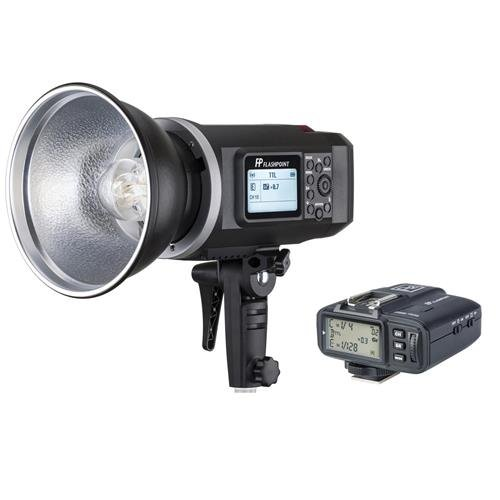 Flashpoint XPLOR 600 HSS TTL Battery-Powered Monolight with Built-in R2 2.4GHz Radio Remote System and R2 Transmitter For Canon(Bowens Mount) - Black by Flashpoint