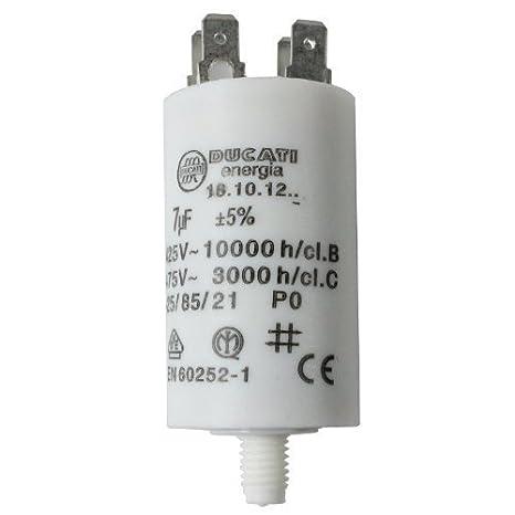 14 UF First4spares Universal Motorbetriebskondensatoren Ger/ätemotor Anlasser Kondensator Mikrofarad 5UF bis 80UF Flachstecker