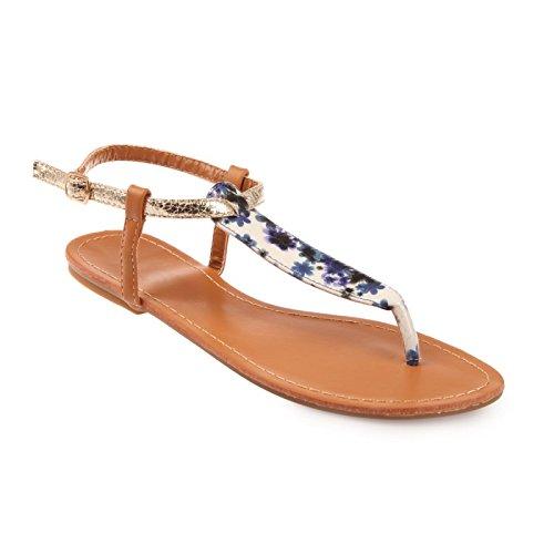 Bride par La une de avec cuir boucle cheville brides verni aspect fermée à Bleu la pieds crocodile Modeuse Nu vwq7rvRS