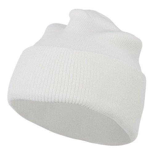 (Super Stretch Knit Watch Cap Beanie - White OSFM)