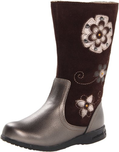 pediped Flex Paula Boot (Toddler/Little Kid),Bronze,24 EU(7.5-8 E US (24 Baby Footwear Boots)