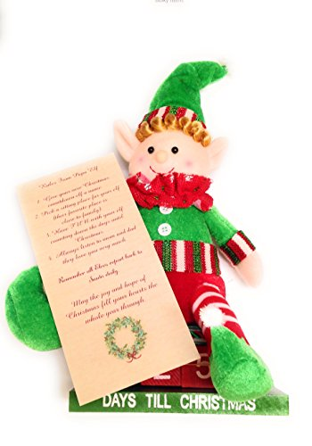 Christmas Elf Countdown Calendar With Mailable Christmas Card (Plush Calendar Christmas)