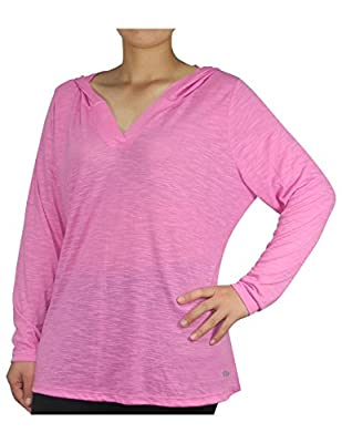 PLUS SIZE Bally Total Fitness Womens Lightweight Yoga Hoodie / Sweatshirt