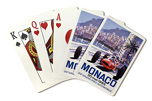 France - Monaco - 23e Grand Prix Automobile - (artist: Turner c. 1965) - Vintage Advertisement (Playing Card Deck - 52 Card Poker Size with - Automobile Advertisements Vintage
