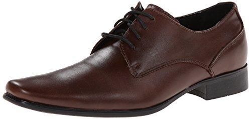 Calvin Klein Men's Brodie Oxford Shoe, Medium Brown Leather, 8 M US